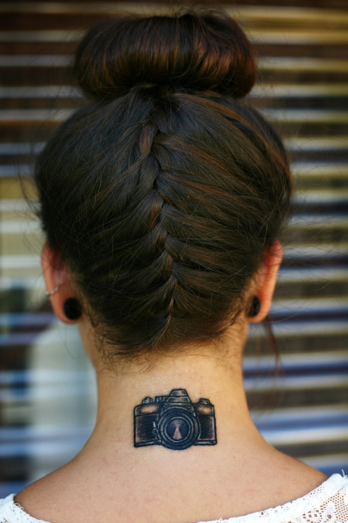 варианты женских татуировок на затылке с фото