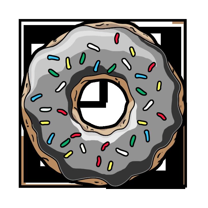 белый пончик картинка колледжи готовили молодых