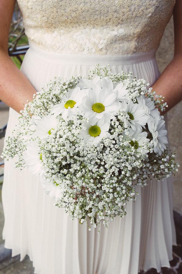 Свадебные букеты ромашек