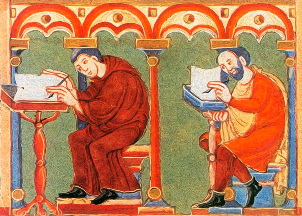 Материал на котором в период средневековья писали книги понять
