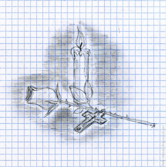 Прикольные рисунки карандашом в клетку
