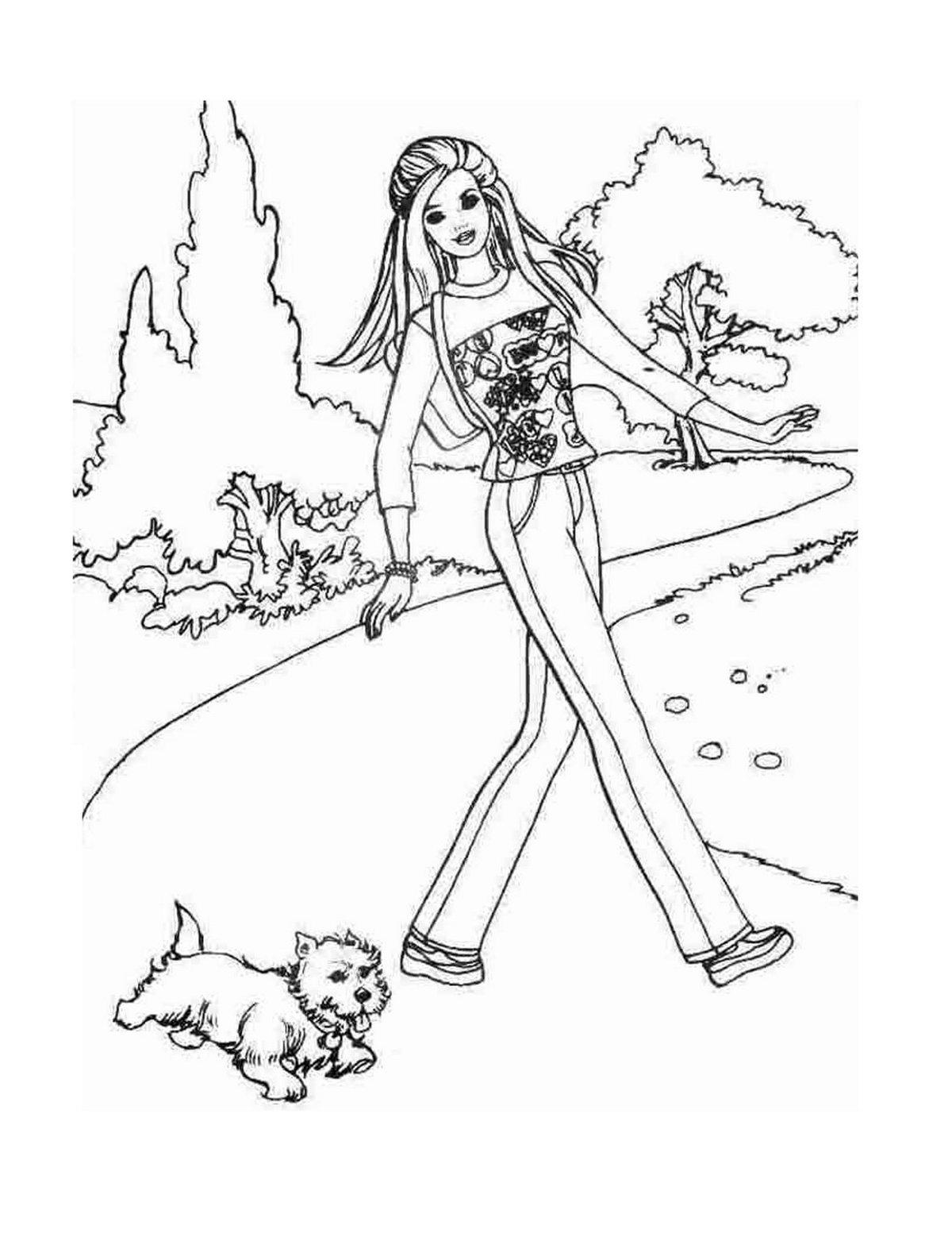 «Барби гуляет с щенком раскраска» — карточка пользователя ...