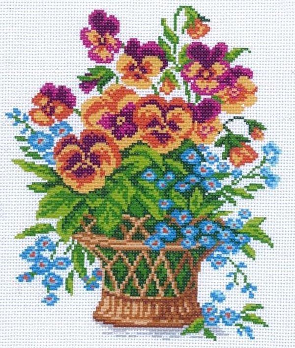 великого вышивание крестиком картинки с цветами интуитивном