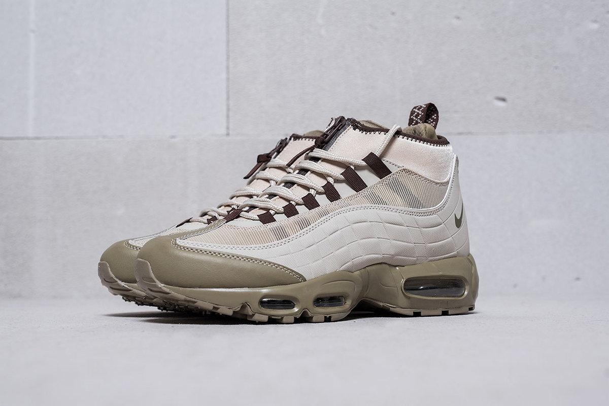 84480dc2 ... Купить недорого кроссовки Nike Air Max 95 Sneakerboot зеленого,  бежевого, серого цвета (9271