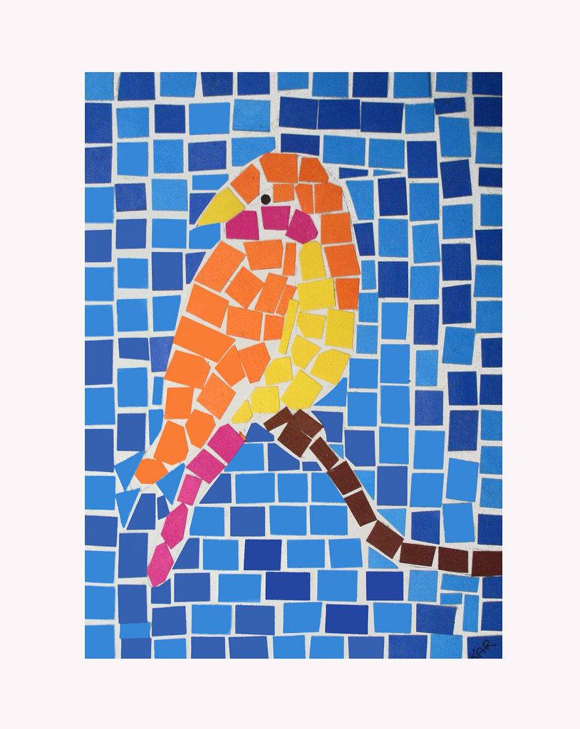 Мозаика из бумаги картинки 1 класс, открытка днем рождения