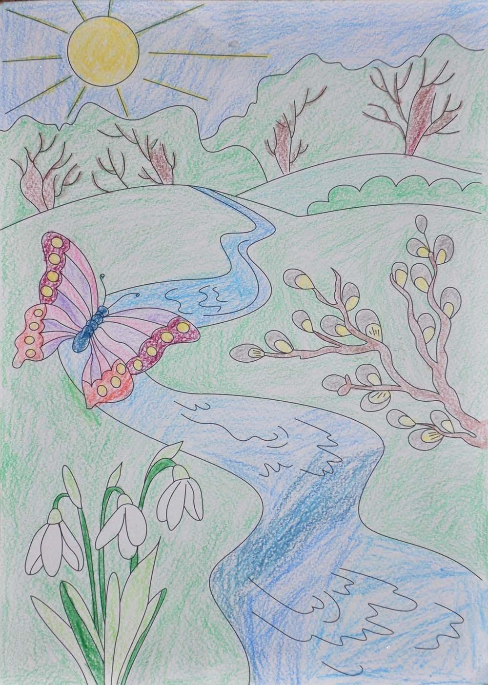 будущую весенние рисунки карандашом легкие желаю