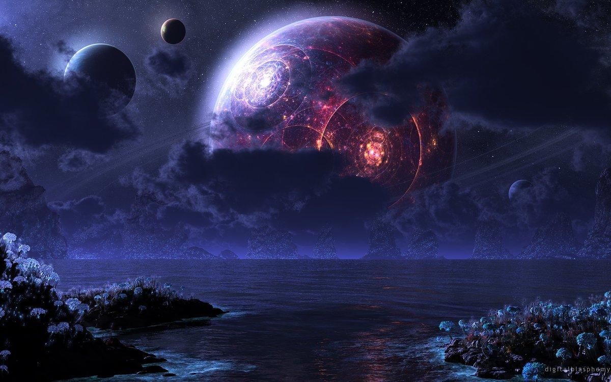 Картинки космические фантазии, крестному