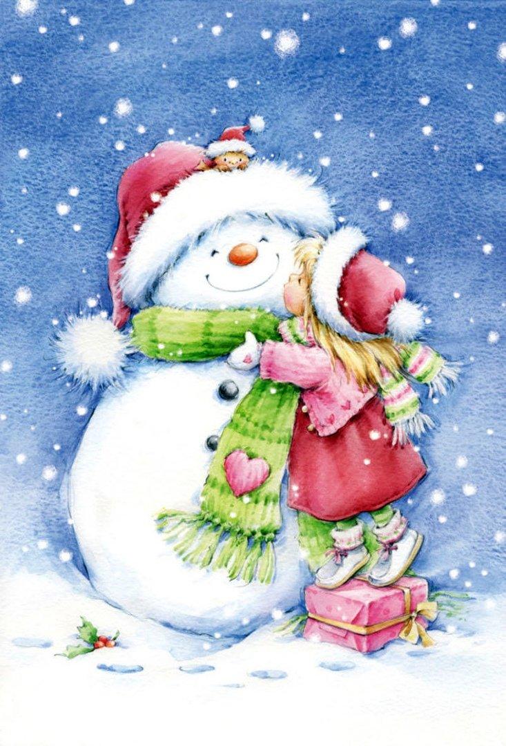 Новогодние открытки рисунки картинки, поздравления месяцами