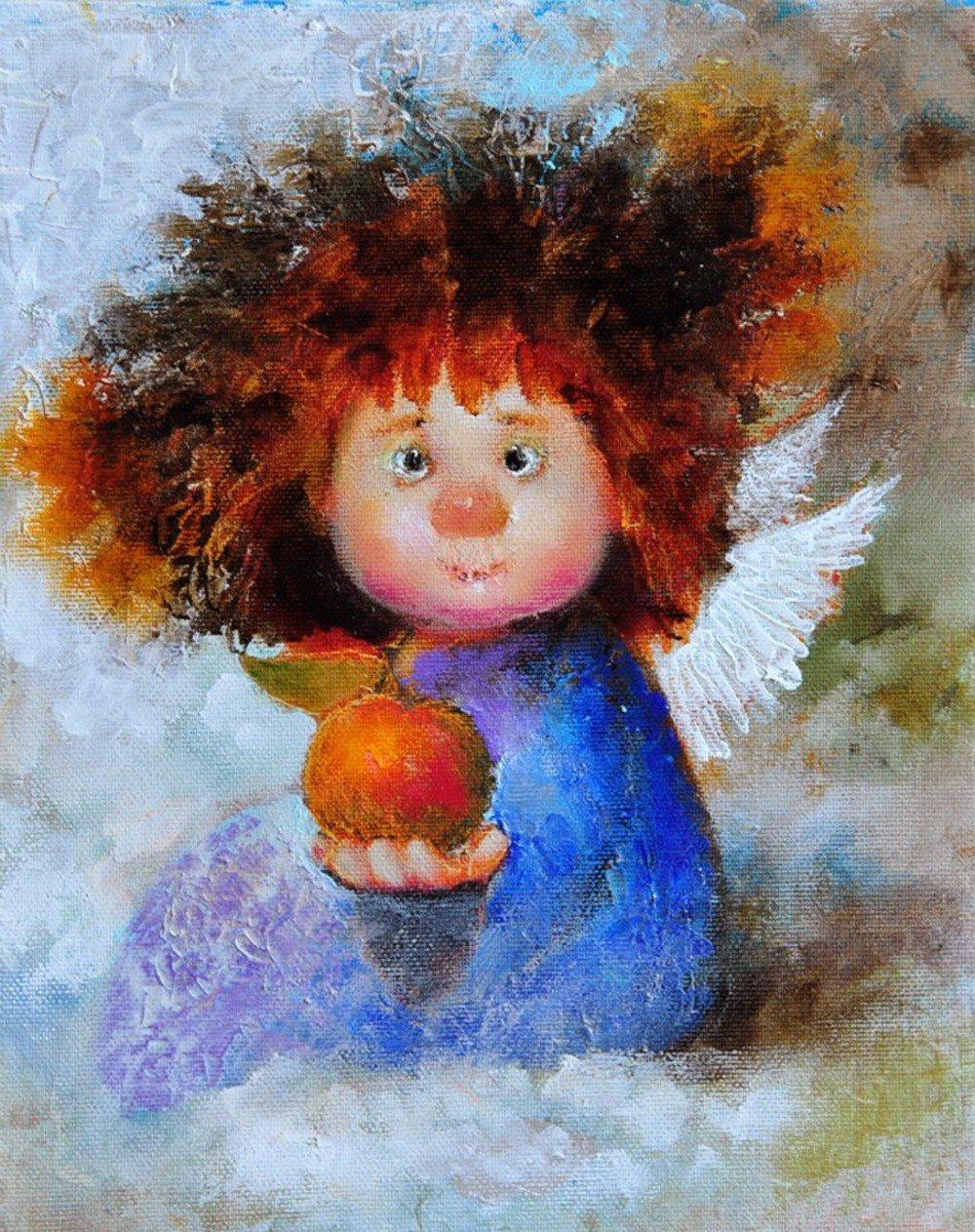 Днем рождения, веселые ангелочки картинки