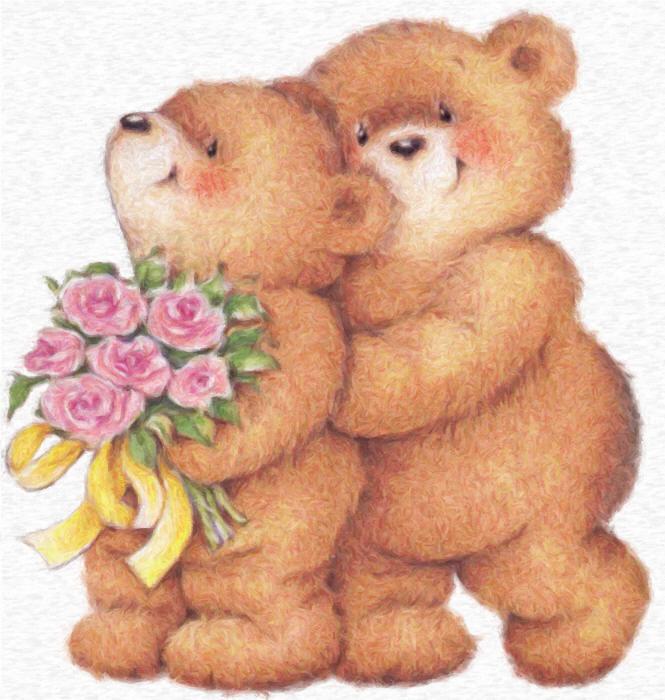 открытки красивые с медвежонком задней
