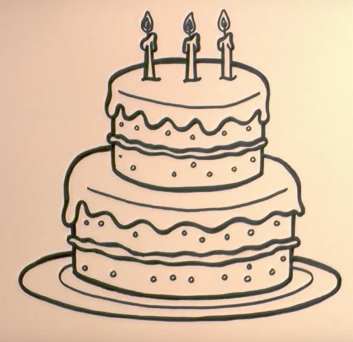 Картинки для срисовывания с днем рождения