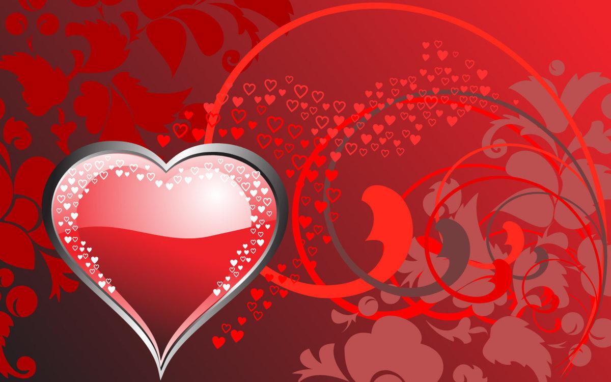Открытки любовные с сердцем