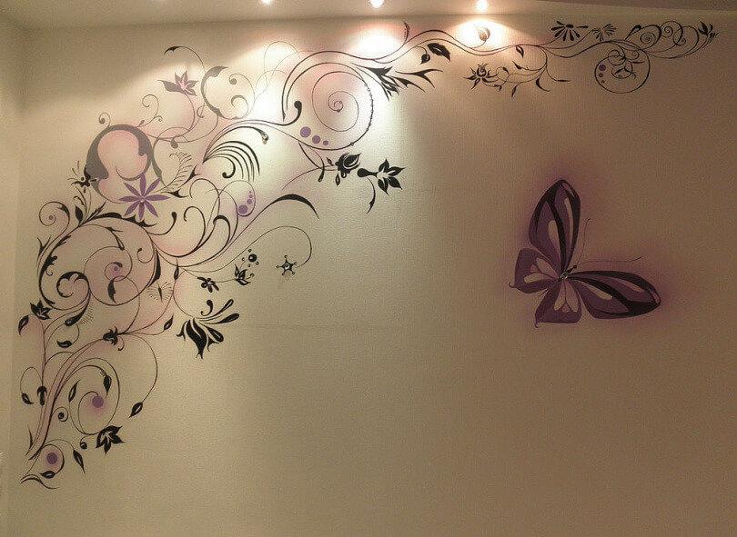 что декоративные рисунки на стенах своими руками вами