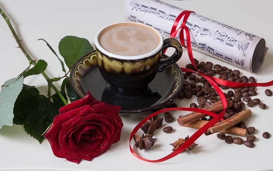 открытка прекрасного утра с кофе вариант стены спальне