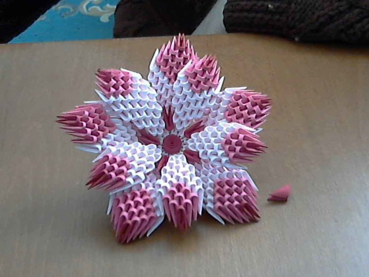 How To Make 3d Origami Flower Model1 Youtube Tutorial Origami