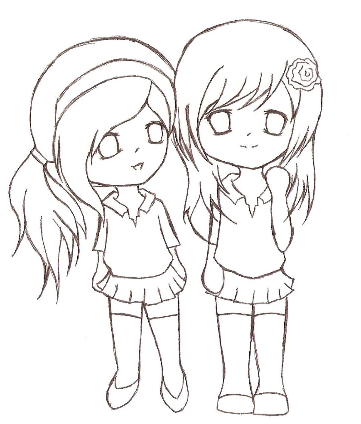 Рисунок для лучшей подруги карандашом легко