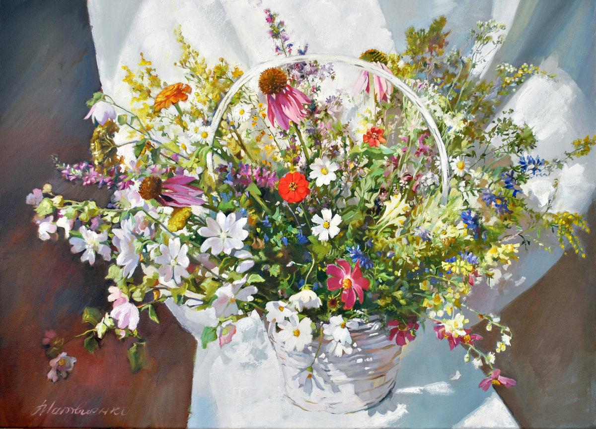 Открытки с полевыми цветами без надписей, поздравления днем