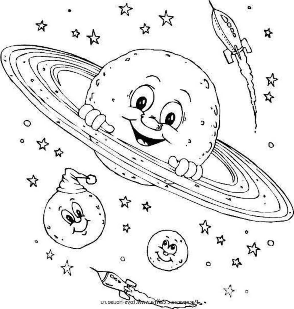 Картинки для детей ко дню космонавтики раскраски, шерстяных