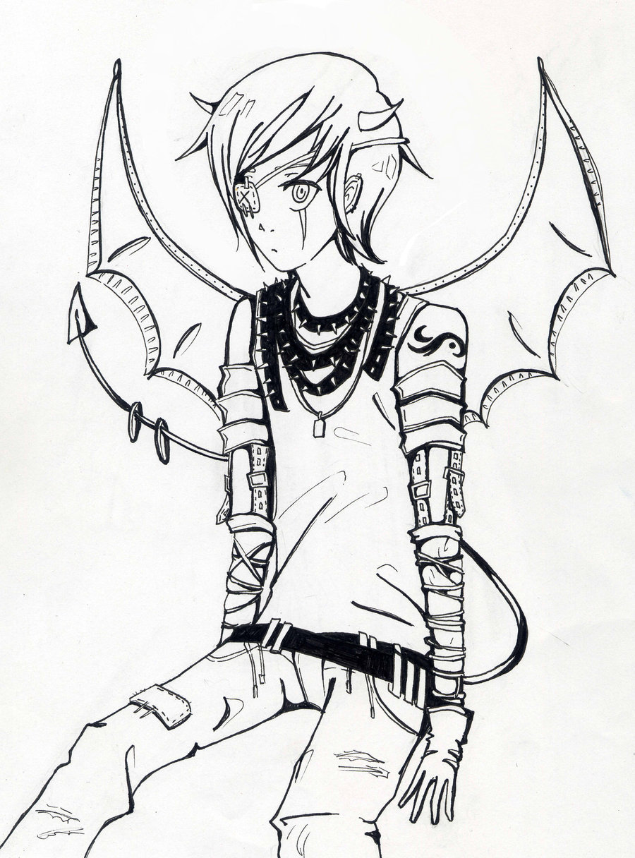 Картинки демоны аниме для срисовки