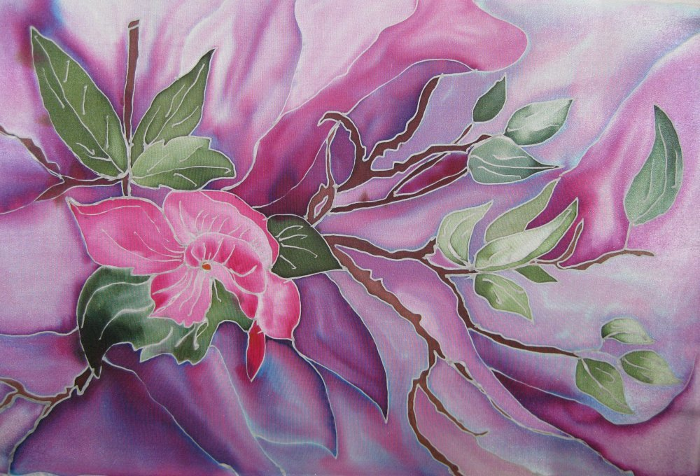станция рисунок батик цветы фототоваров геленджике