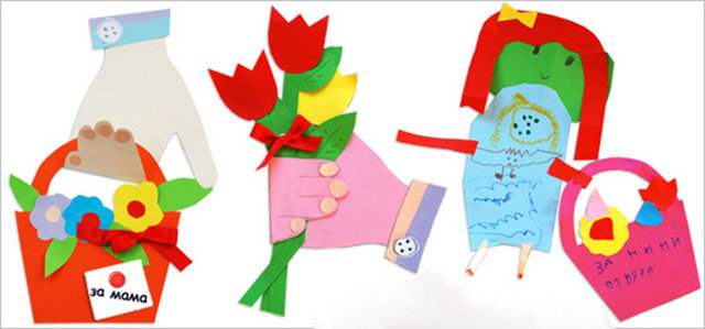 Алгоритм создания открытки к 8 марта