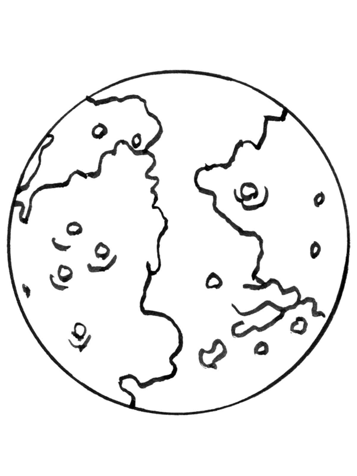 «Раскраски Космос, Раскраска Планета космос.» — карточка ...