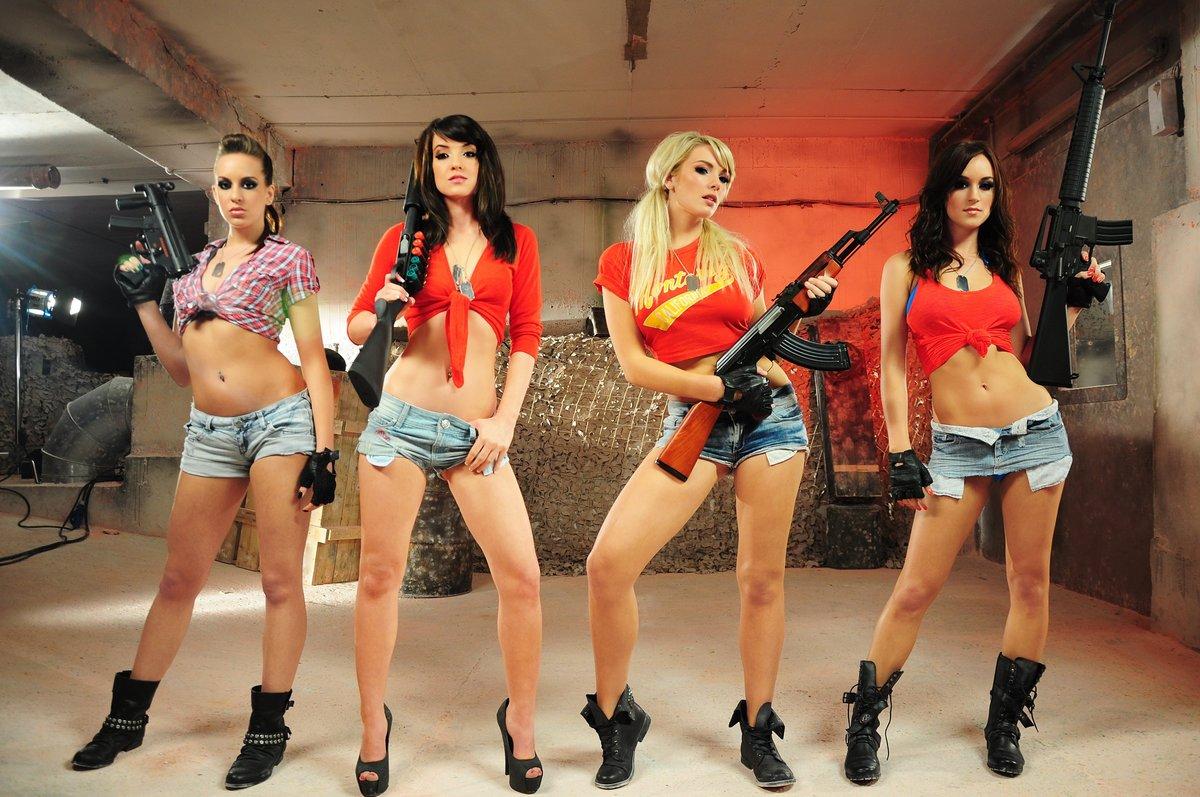 Her stripper guns