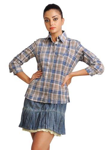 551c1ce276f18ba 37 карточек в коллекции «Женская рубашка в клетку с коротким рукавом ...