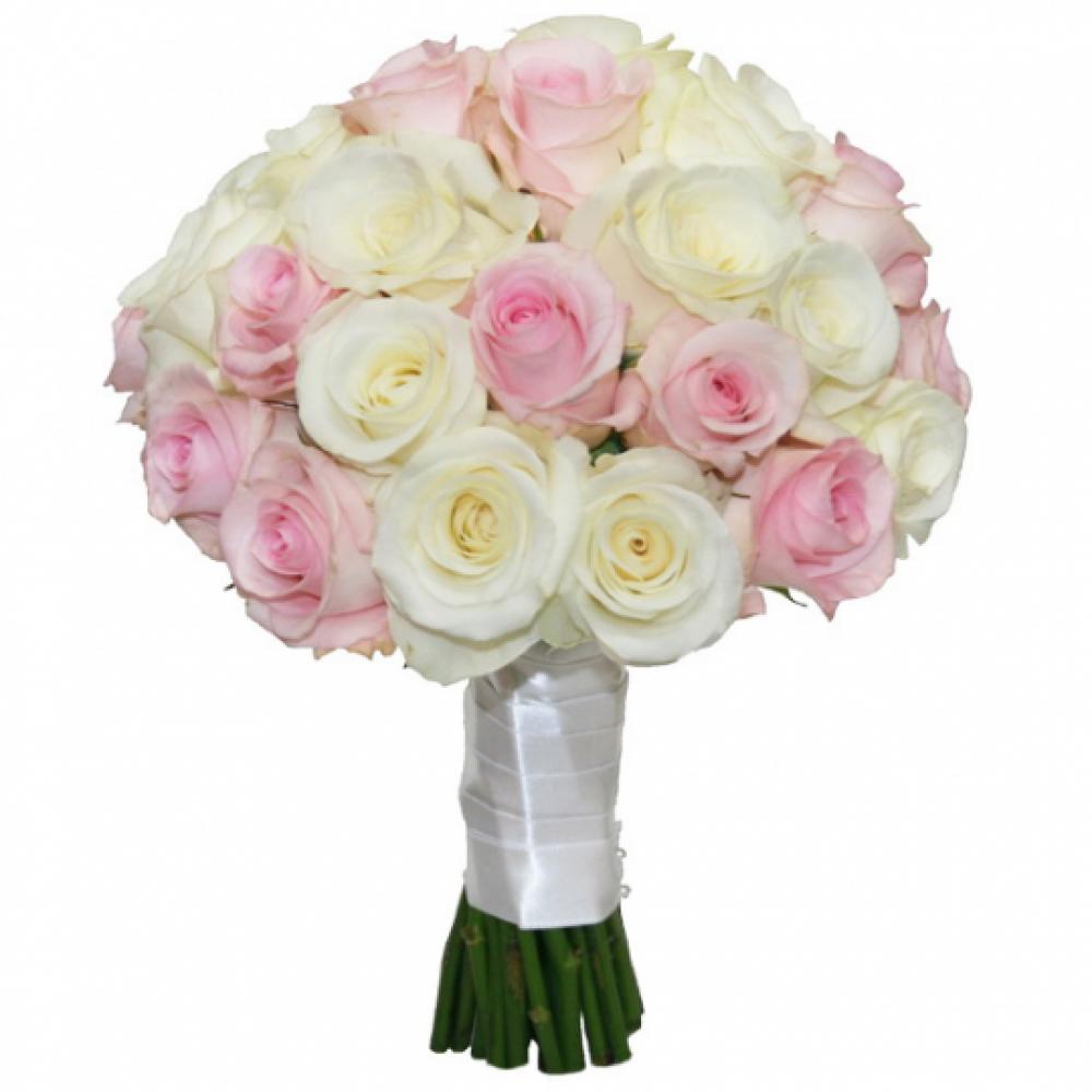 Розовых роз купить букет невесты, свадебный букет