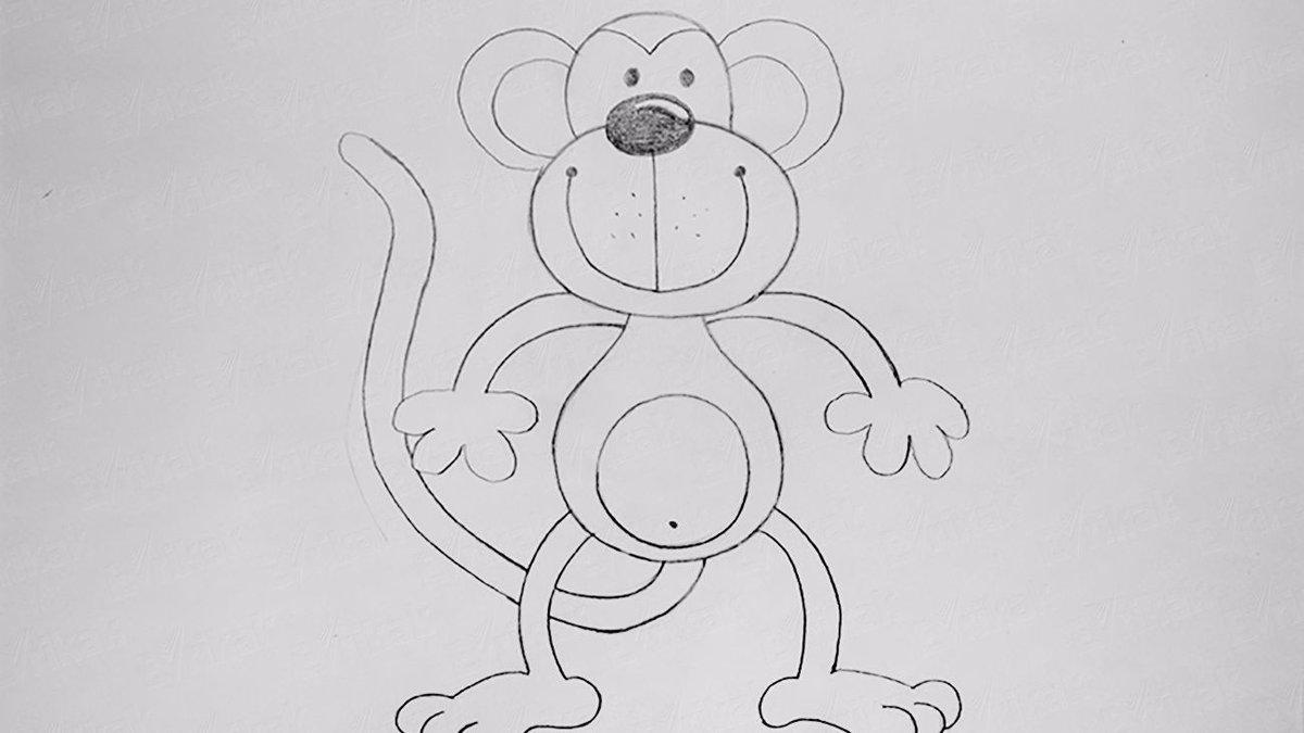 Обои, рисунок обезьяны для срисовки