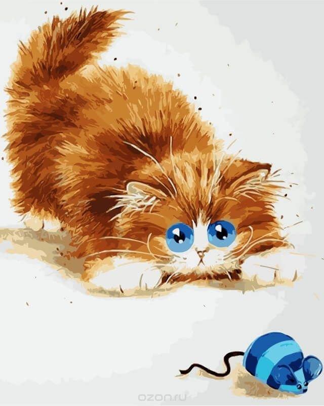 Рисунки рыжих котов смешные, осенний пейзаж