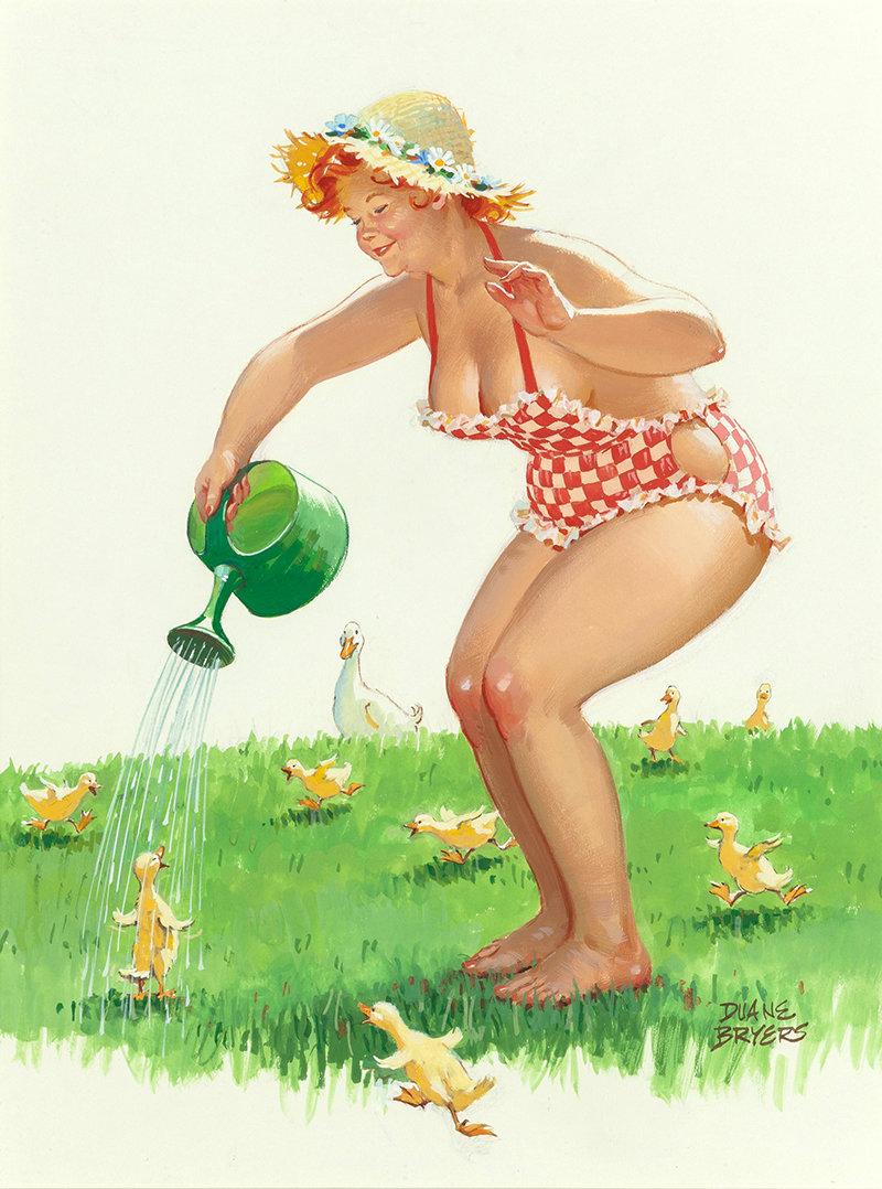 Прикольные картинки женщина и огород, картинки