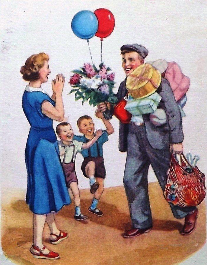 Ретро открытка с днем рождения ссср, открытки