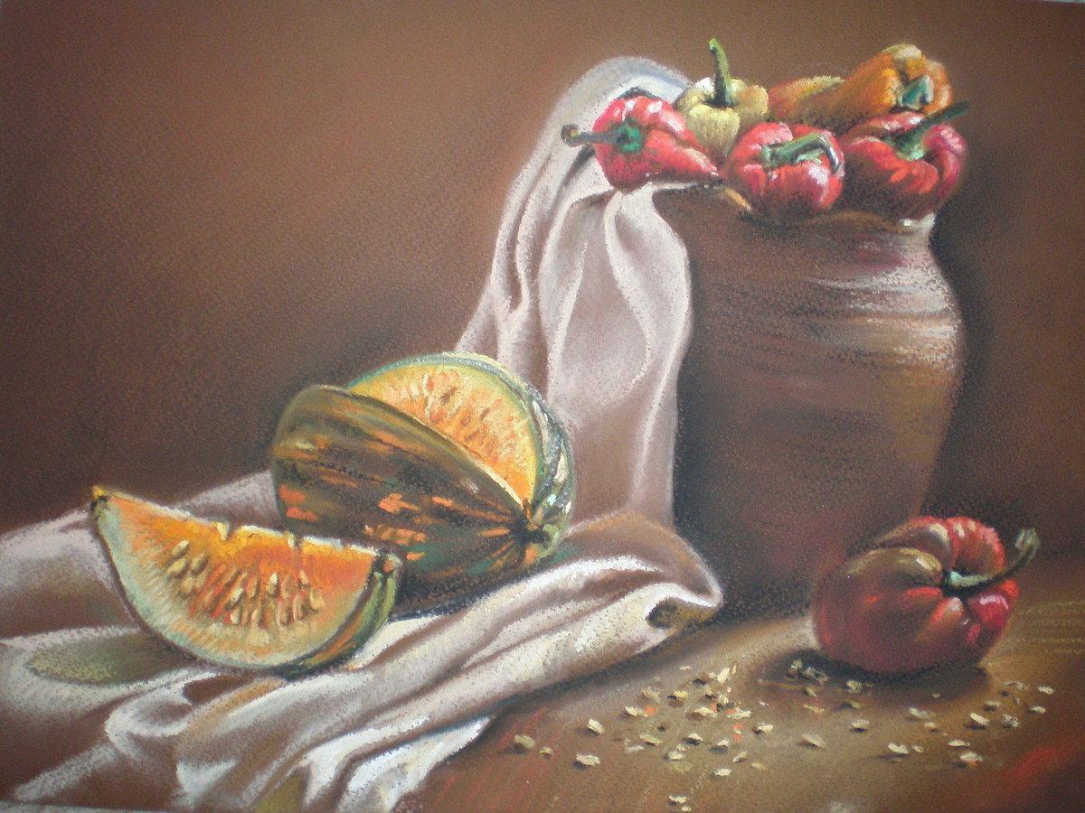 картинки натюрморта пастелью созданный