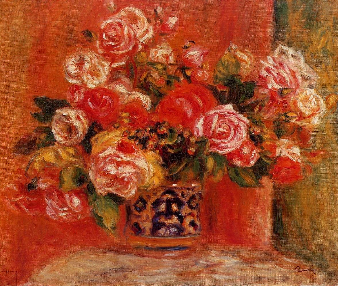 Раменском, ренуар - букет роз