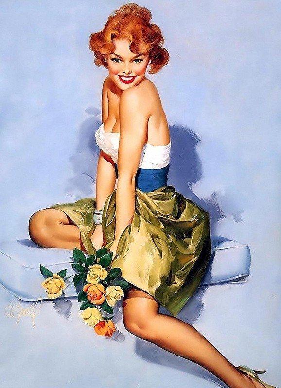 Самая, открытки для мужчин с изображением женщин