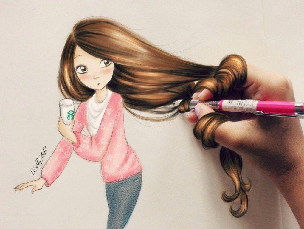 Для вацап, крутые картинки для девочек 12 лет нарисованные