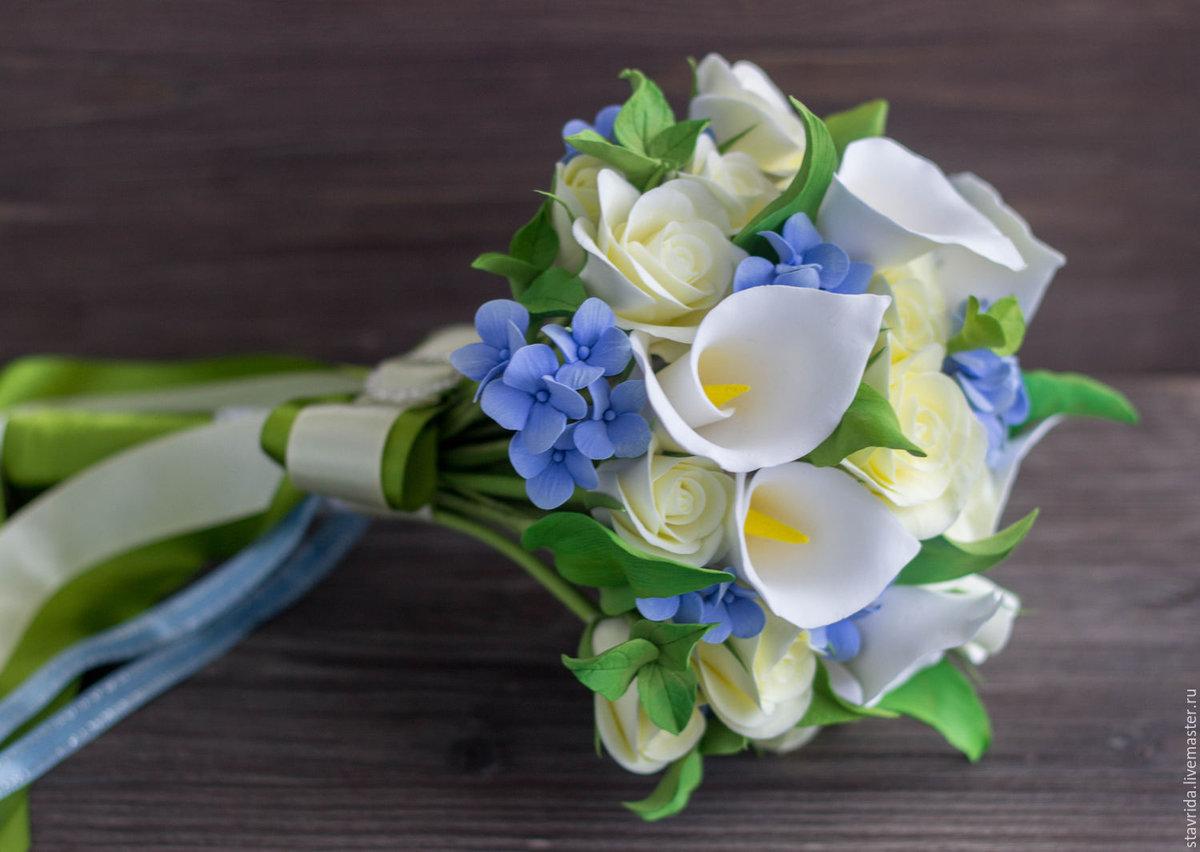 Цветы, весельно букеты каллы фото
