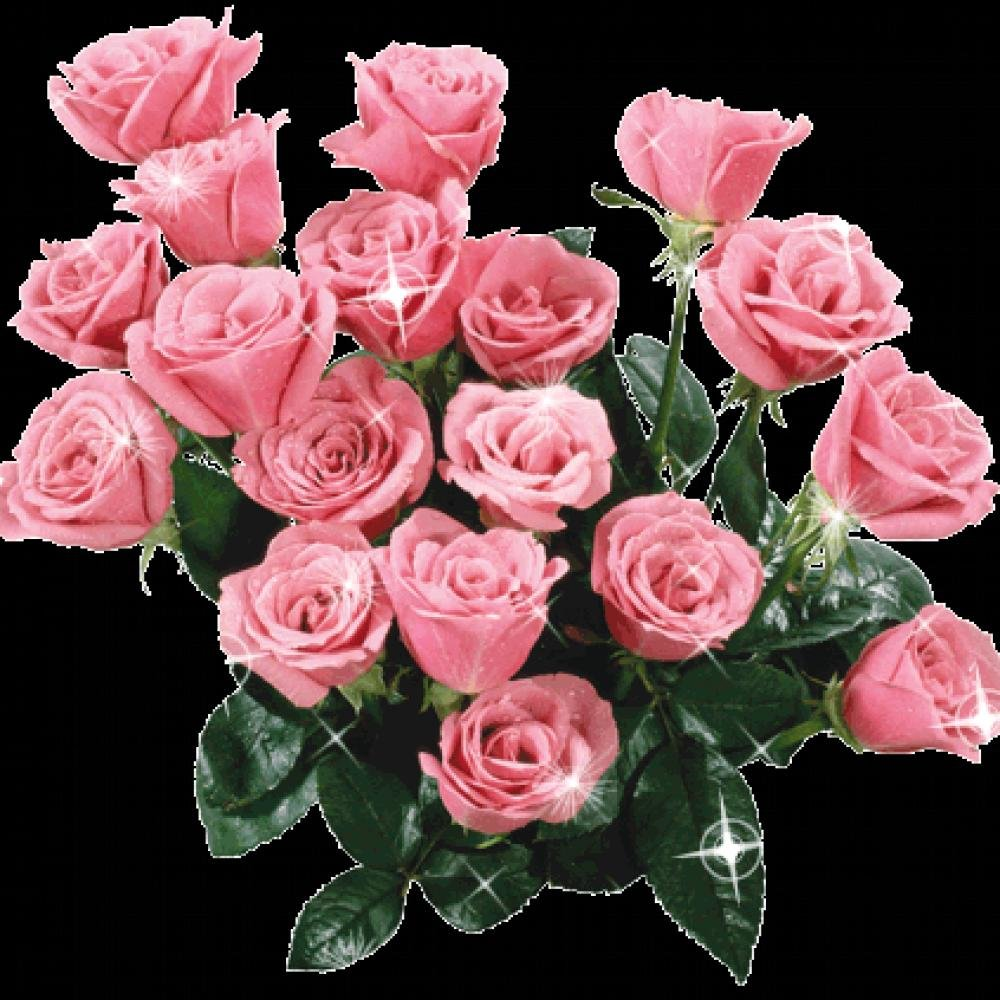 Днем, картинки блестящие и двигающиеся розы