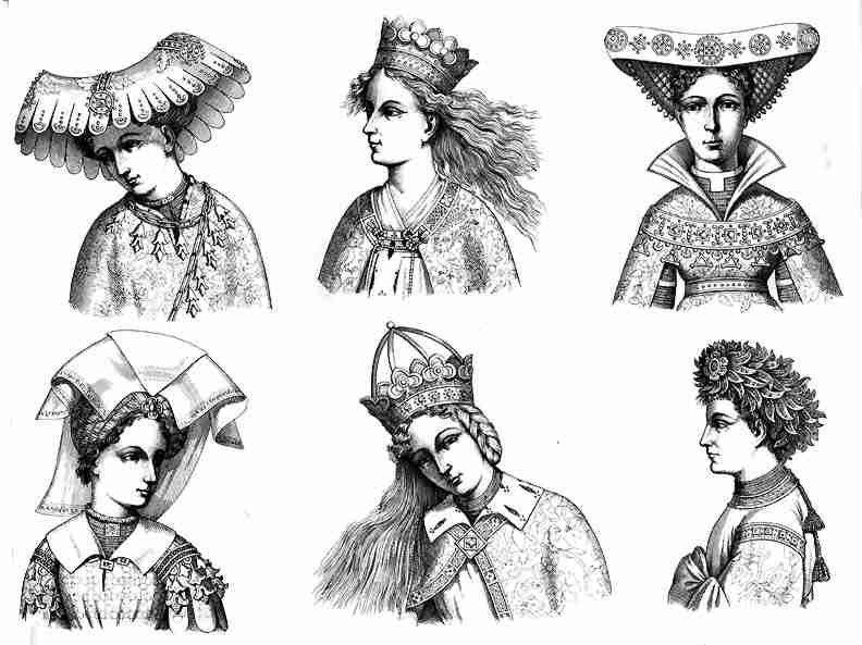 Женские головные уборы средневековье в картинках