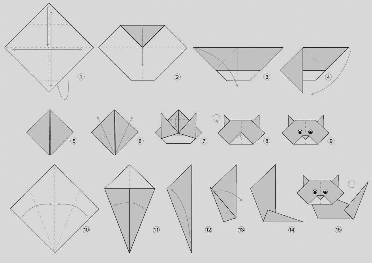 оригами кошки из бумаг в картинках рекомендуют