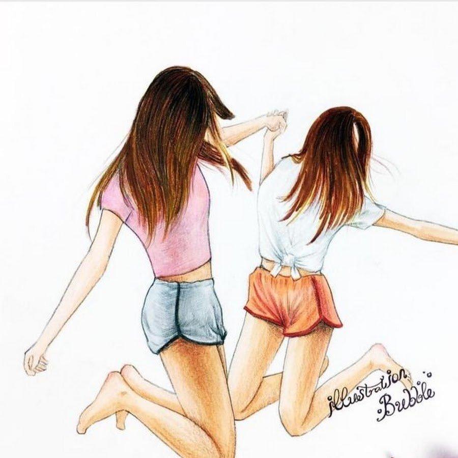 еще рисунки самые лучшие подруги вместе его словам, будет