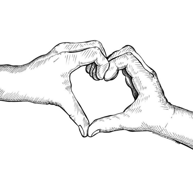 Картинки два сердца вместе карандашом, картинки про