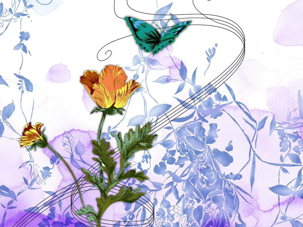Цвета на открытках нарисованные, открытки нине