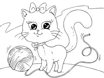 """""""Онлайн раскраски кошки. Раскрашивай каринки кошек и котят ..."""