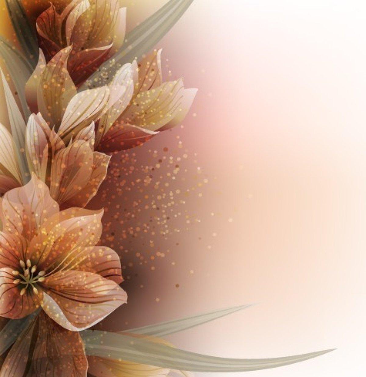 фон бежевые цветы макияж большинстве