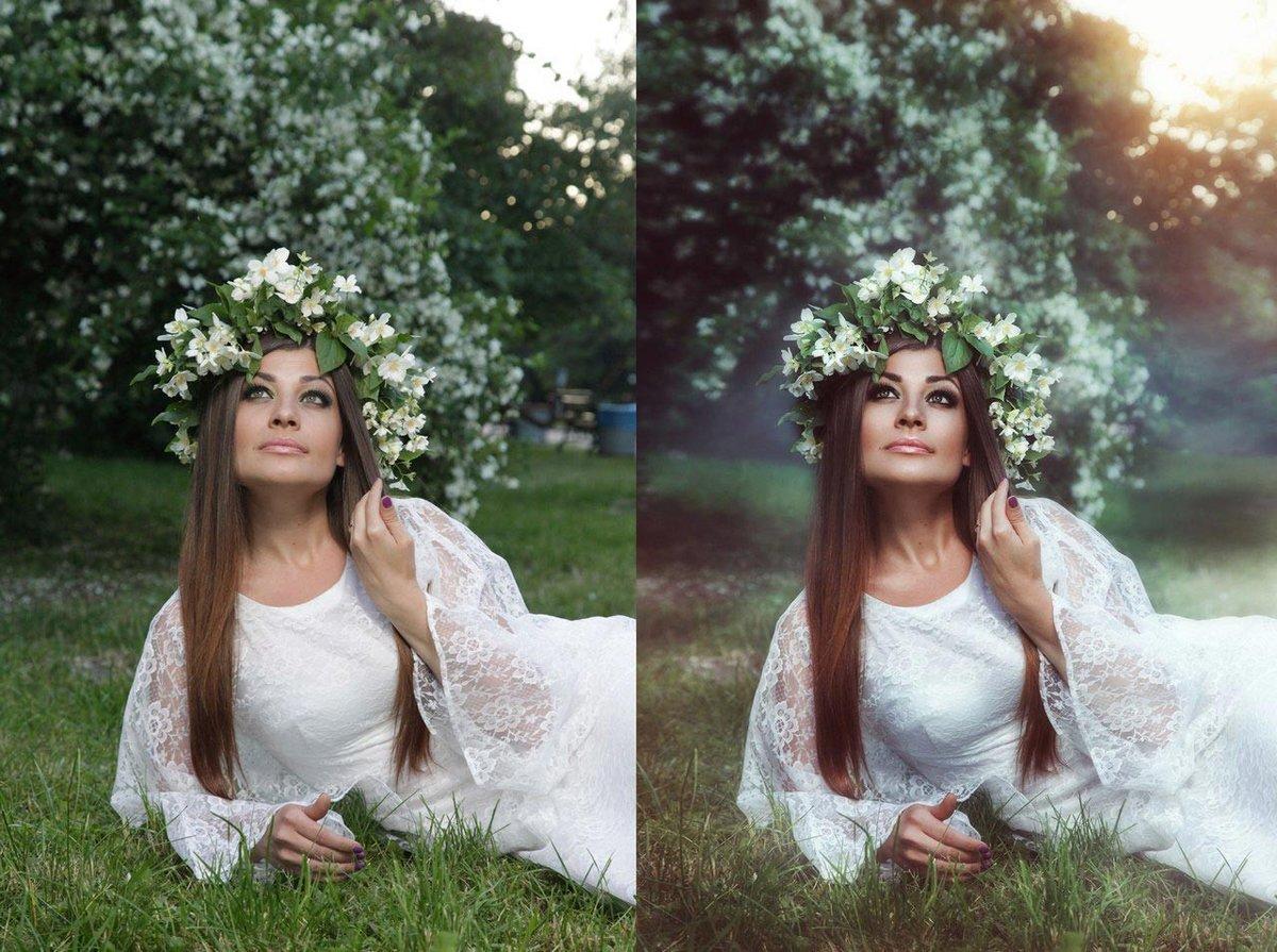даже обработка фото до и после пример что