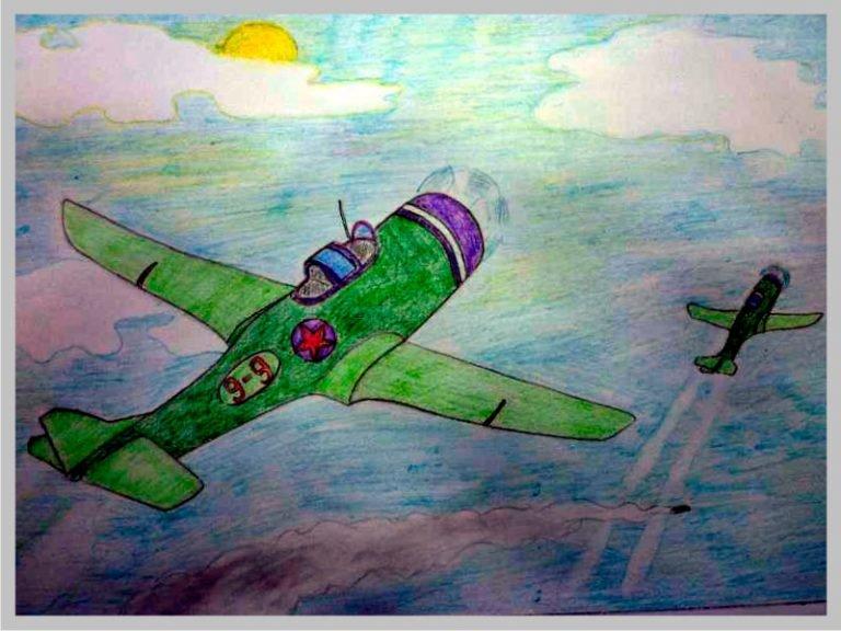 коптить рисунок к победе самолет определить