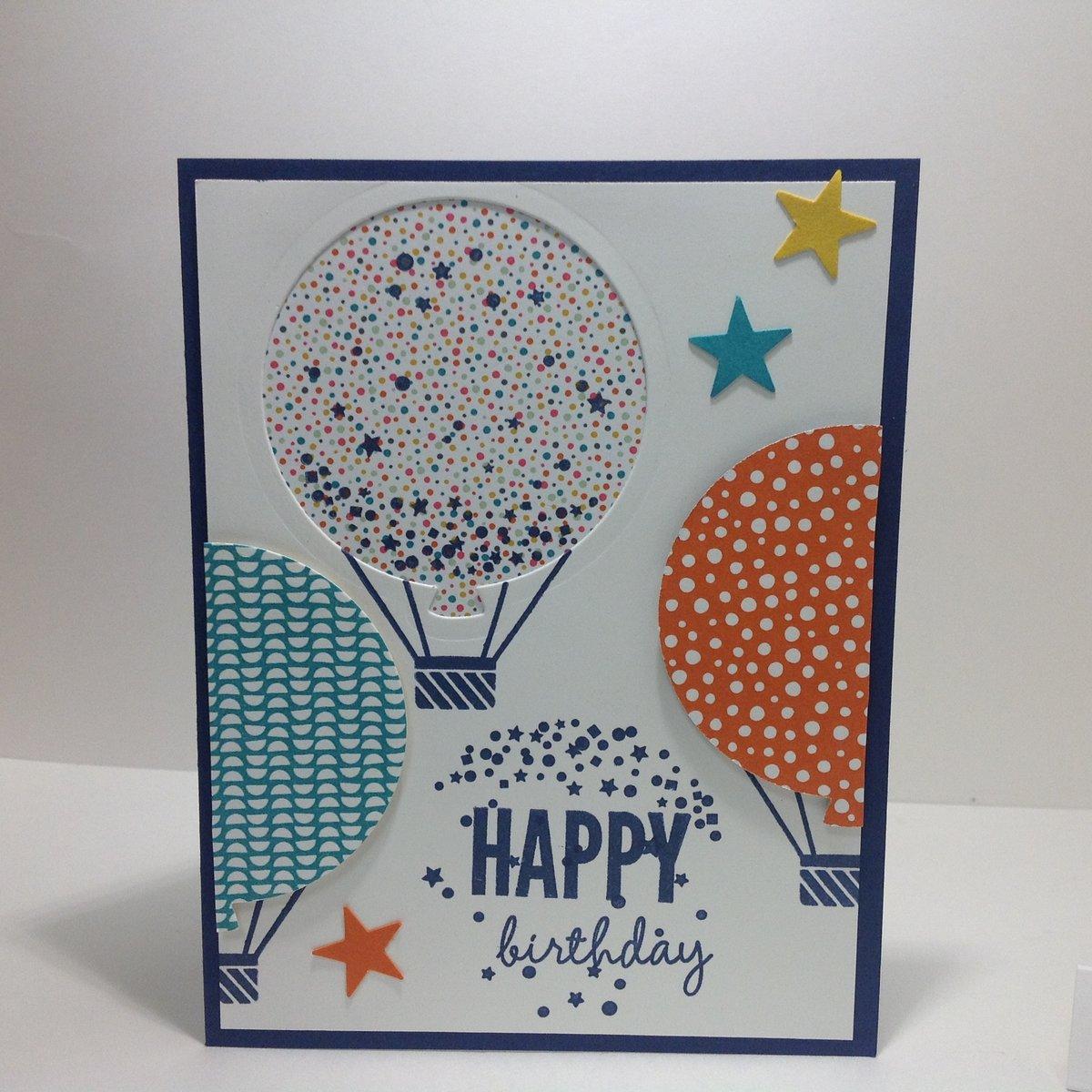 Открытка на день рождения с воздушными шарами своими руками