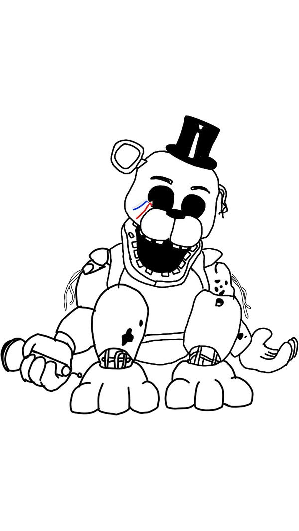 golden freddy coloring pages Golden Freddy Coloring Pages   Bing images